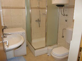 Apartment with dishwasher Baska island Krk Croatia bathroom