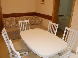 Apartment with dishwasher Baska island Krk Croatia dining corner