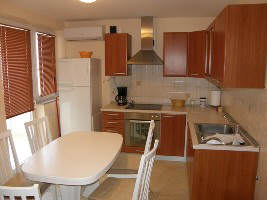 Apartment with dishwasher Baska island Krk Croatia kitchen
