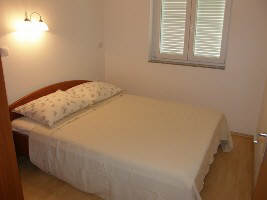 Apartment with dishwasher Baska island Krk Croatia bedroom