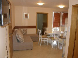 Apartment with dishwasher Baska island Krk Croatia living room