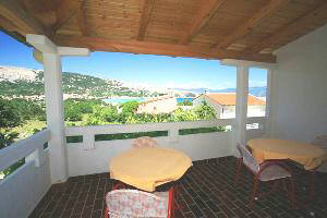 Apartment 58 terrace Baska island Krk Croatia