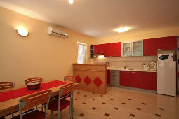 Apartment 69B dining corner Baska island Krk Croatia