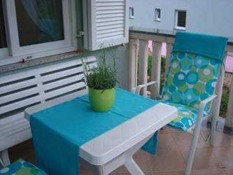 Große Terrasse mit Sitzgarnitur für 4 Personen Baska Insel Krk Kroatien