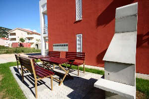 Baska Krk Croatia Apartment-5 garden with barbecue