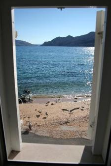 Apartment directly on the beach with sea view Baska island Krk Croatia